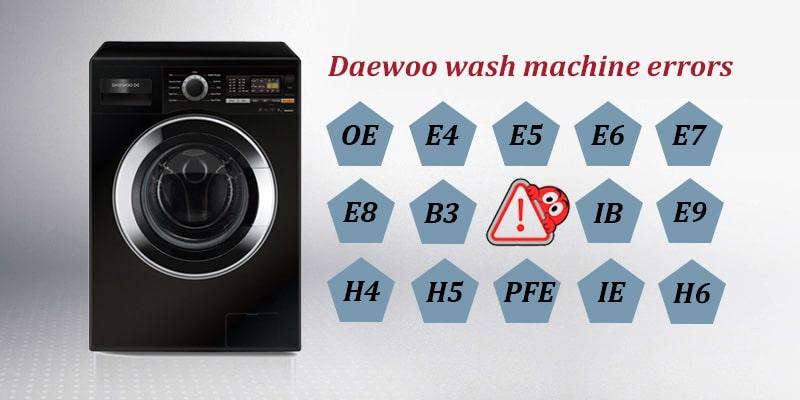 ارور ماشین لباسشویی دوو