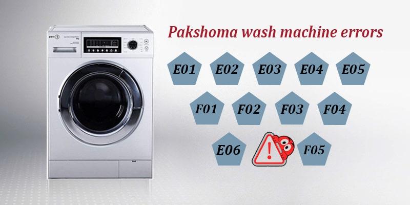 ارور ماشین لباسشویی پارس