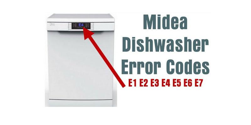 کدهای خطا و ارور ماشین ظرفشویی مدیا